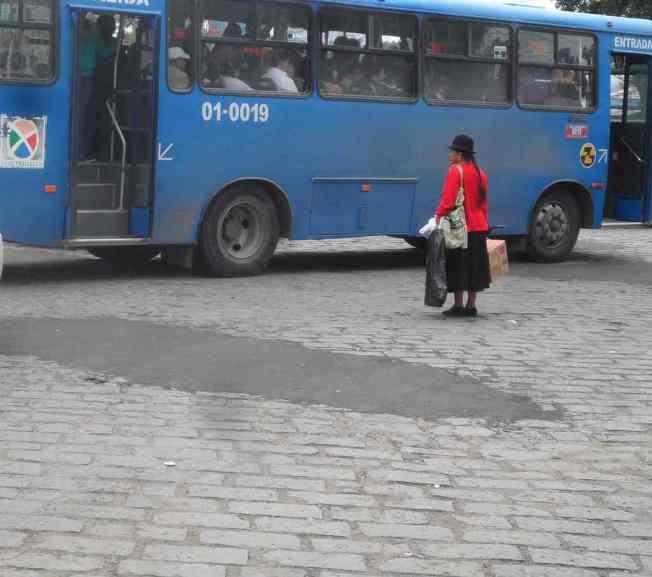 Cuenca, Ecuador city bus